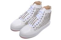 white back zipper rivets lace-up high-top men's casual shoes