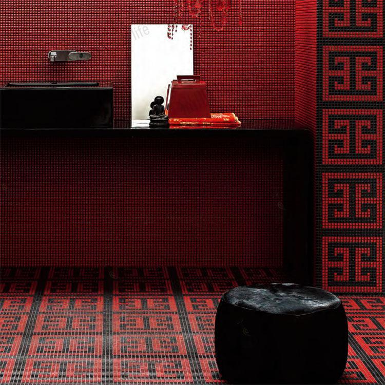 T012 Red henselae mosaico fundo do parede de vidro esmalte cerâmico telha(China (Mainland))