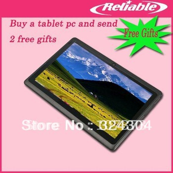 7.0 inch Tablet PC A13 1.2GMhz Android 4.0 512MB HDMI Five points touch 4GB Allwinner A13(China (Mainland))