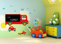 free shipping PVC chalkboard wall decal black board  wall sticker cars 45*60 cm for kid room/children room