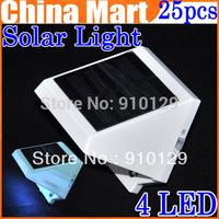 25pcs/lot   Solar Power 4LED  Outdoor light corridor wall lamp