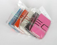100pcs/lot Flip Side Top Folio Wallet Protective Leather Hard Card Holder Case Cover for iPhone 5 5G