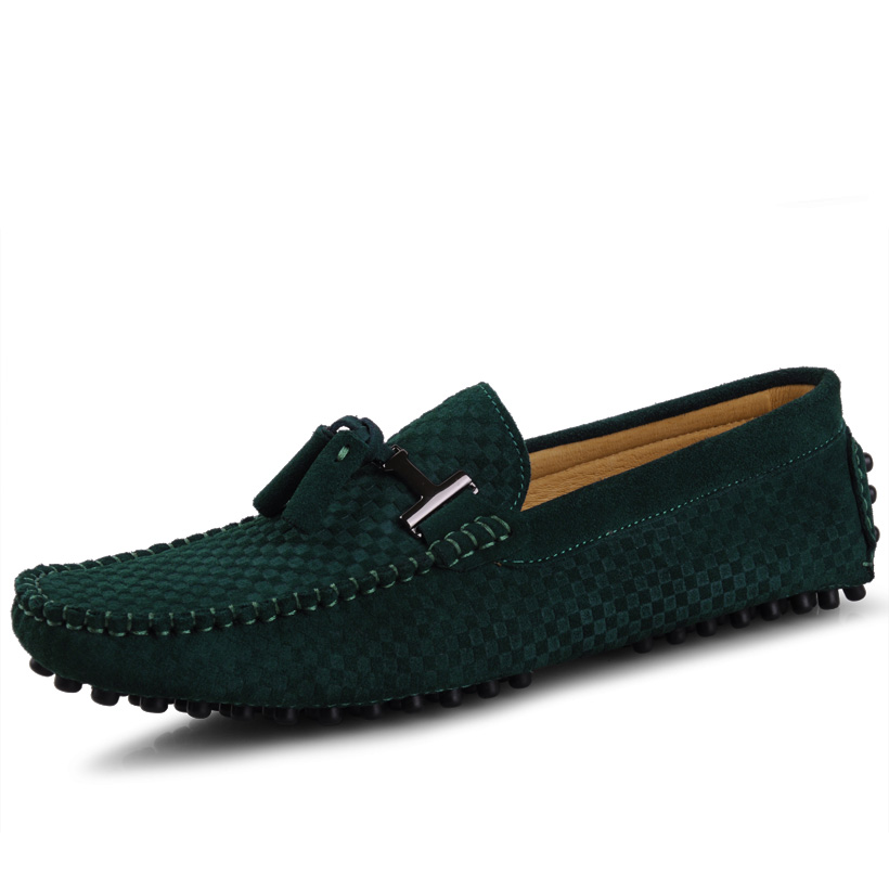 Summer fashion male Moccasins male genuine leather shoes trend wool casual male shoes sailing shoes(China (Mainland))