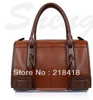Free shipping 100% Genuine leather women's handbag cowhide female bag luxury OL leather handbag cheapest wholesale best selling