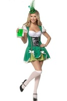 Free Shipping Sexy Green Cosplay Maid Costumes Sexy Lingerie Dress + G-string Set One Size Sexy Sleepwear Sexy Costumes LB2343