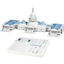 3D Puzzle Jigsaw United States Capitol 132 Pieces DIY Assemble Educational Toy(China (Mainland))