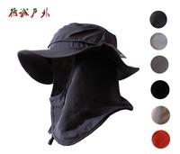 Outdoor Men Women Summer Sunscreen UV Protection Quick Dry Fishing Bucket Hat,Sun Block Neck Protection Detachable Cap Freeship