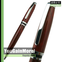 BAOER 702 WINE WOOD GRAINTWIST ACTION BALLPOINT PEN CHROME TRIM NEW HOT SELL