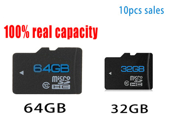 FREE SHIPPING 1pcs/lot SD 32GB 64GB class 10 Micro SD Memory Card TF 32GB With the packing High speed data transmissio1