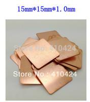 100pcsX15mm*15mm*1.0mm  Copper Heatsink thermal Pad for Laptop GPU CPU