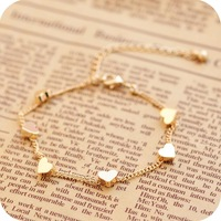 free shipping Ob0155 fashion accessories vintage five-pointed star love bracelet brief detailed Bracelets & Bangles