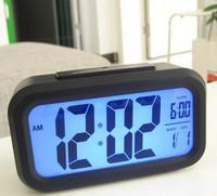Large screen electronic alarm clock light clock lcd alarm clock led clock lounged mute clock