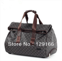 Free shipping 2013 recreation rod bag male high-capacity hold-all retro luggage luggage pull rod box