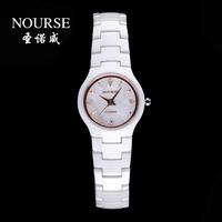 Nova commercial fashion male quartz waterproof ceramic watchband watch diamond table lovers watch