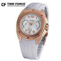 Time force charm watch ladies watch stainless steel gold plated gold women's watch tf3133l11