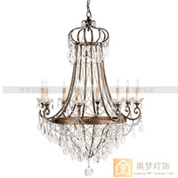American wrought iron crystal lamp antique crystal lamp  antique crystal   modern crystal chandelier