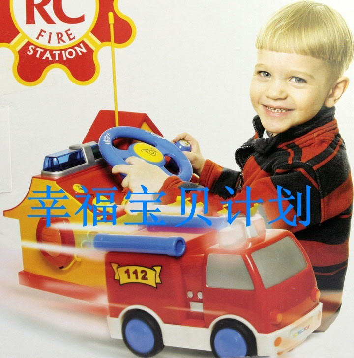 Free shipping Original tic tec remote control fire truck set(China (Mainland))