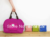 Free Shipping, 2013 NEW,Unisex Foldable Shoulder Bag, Waterproof nylon handbag, Foldable travel bag/Sopping Bag/Sports bag