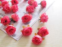 50Pcs/lot Artificial Silk Flower Head Wedding Party Decoration Flower Silk Flower Show Simulation flowers Free Shipping Rose Red