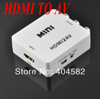 New arrival Mini HD Video Converter Box HDMI to AV / CVBS L/R Video Adapter HDMI to cvbs+Audio Support NTSC and PAL Output