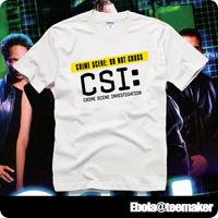 2014 / CBS CSI Crime Scene Investigation short-sleeve T-shirt male Women lovers plus size loose summer spring