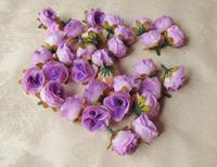 50Pcs/lot Artificial Silk Flower Head Wedding Party Decoration Flower Silk Flower Show Free shipping Light Purple