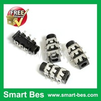 Smart Bes!Free shipping!500 pieces /Lot NEW 3.5mm Stereo Connector SMD Jack Audio use on PCB panel