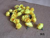 Yellow 50Pcs/lot Artificial Silk Flower Head Wedding Party Decoration Flower Silk Flower Show DIY Simulation flowers