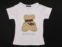 2013 Summer New Fashion Kids Designer Brand Short- sleeve  t shirt  Big Girls T-shirts 2 Color  5 Size 2-6 years old