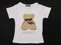 2013 Summer New Fashion Kids Designer Brand Short- sleeve  t shirt  Big Girls T-shirts 2 Color  5 Size 2-6 years old