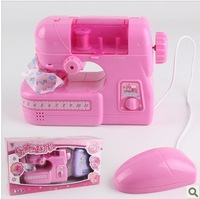 Free shipping! ABS plastic mini sewing machine mouse control with light and music girls early learning educational toys HOT SALE