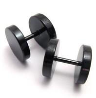 316l stainless steel earring titanium black stud earring earrings male boys