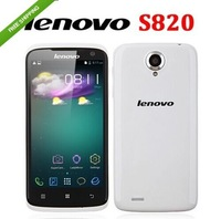 2013 hk free shipping &original 4.7 Inch Lenovo S820 IPS Capacitive Touch Screen Quad Core1GB RAM 4GB ROM dual mode/john