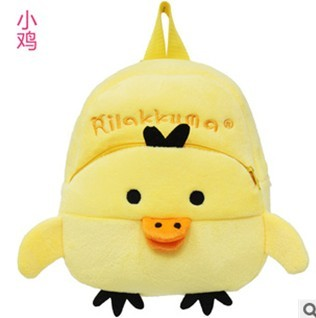 Chick plush animal cartoon backpack kindergarten school bag child outdoor travel backpack(China (Mainland))