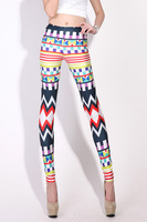 Plus Size Galaxy Legging 2013 New Arrival Women Tie Dye Spandex Shine Black Milk Leggings Moroccan Leggings  LB13498 M XL