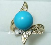 Exquisite blue turquoise ring 7-8-9