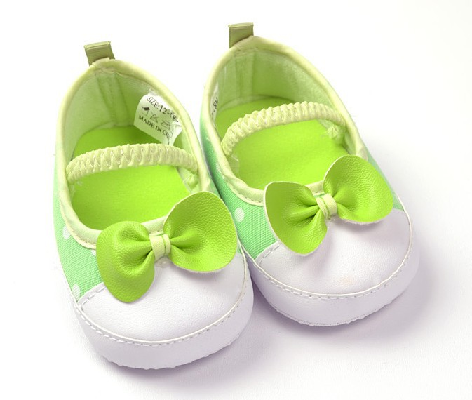 Free shipping 6 pair/lot princess Slip soft bottom toddler shoes / baby shoes baby shoes green / princess shoes LA03(China (Mainland))