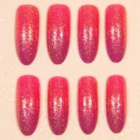 2014 New Arrivals bling red long design stiletto Nails/False Nails/Fake Nail/Nail Tips,24 pcs with glue,Free Shipping