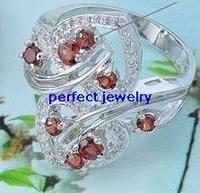 Garnet ring Free shipping Garnet ring Natural red garnet 925 sterling silver For women Fine jewelry  Girls finger jewels