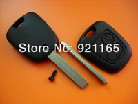 Citroen 2 button remote key blank with 307 key blade no logo