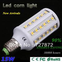 1X High power 60 LED E27 E14 5630 15W Corn Bulb Light Maize Lamp LED Lighting Warm White Cool White Free shipping