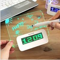DHL Free shipping 10pcs/lot,Electronic fluorescent clock board,Creative clock alarm clock