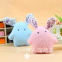 Special fashion cartoon pearl rabbit bag mobile phone pendant plush accessory stuffed toy activities award gift wholesale 10 pcs