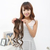 4pcs/lots Style Women's Lady Long Fashion Full Curly Wavy  Clip-in on Synthetic Hair Extensions 3 Colors  H100
