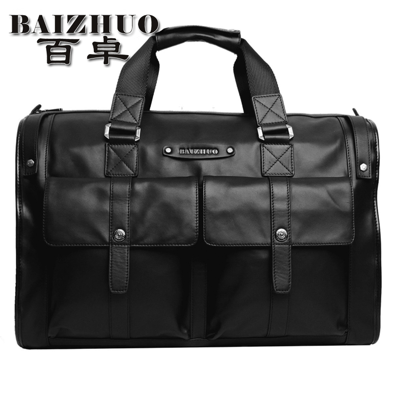 Travel bag handbag male one shoulder large capacity genuine leather commercial travel bag luggage bag men(China (Mainland))