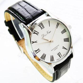 Free shipping super cheap luxury watches Roman numerals quartz movement Water Di Novo Men's belt watch two colors