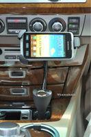 Universa Mobile Phone Holder Mount Cradle + Car Cigarette Lighter Socket + Two USB Charger For Samsung MP 4 Cell Phone PDA GPS