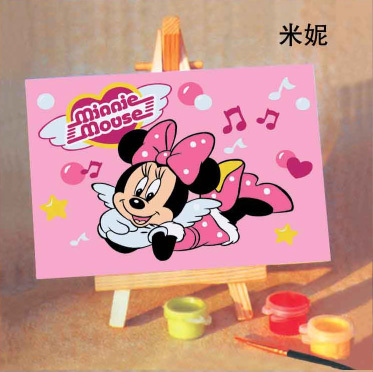 NickYard* Digital oil painting diy 8 mini cartoon clothing decorative painting 10 15 MINNIE(China (Mainland))