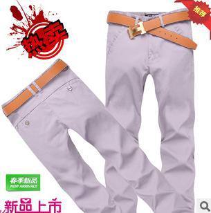 free ship spring summer Men's Stylish Designed Straight Slim Fit Trousers business men pants cotton long trousers (no belt)#3