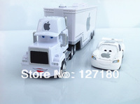 Hot ! Pixar  Cars 1set = white MACK TRUCK and Apple small car toy alloy Diecast  ! 2013 newest  product !